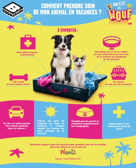 Infographie - Comment prendre soin de mon animal en vacances